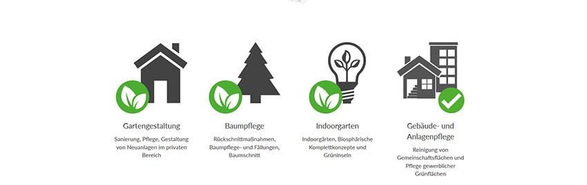 Inhalte der Homepage - Produkte eines Landschaftsgärtners