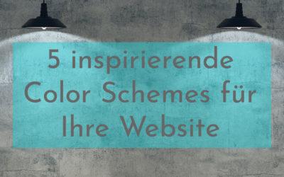 Color Schemes – fünf inspirierende Color Schemes für Ihre Website