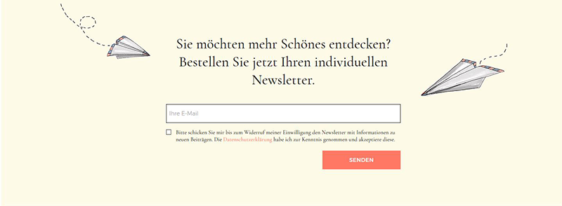 Website Konzept - Call-to-Action