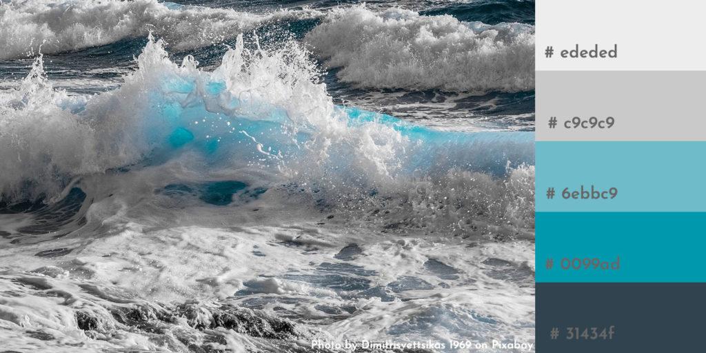 Color Scheme in erfrischenden Blautönen