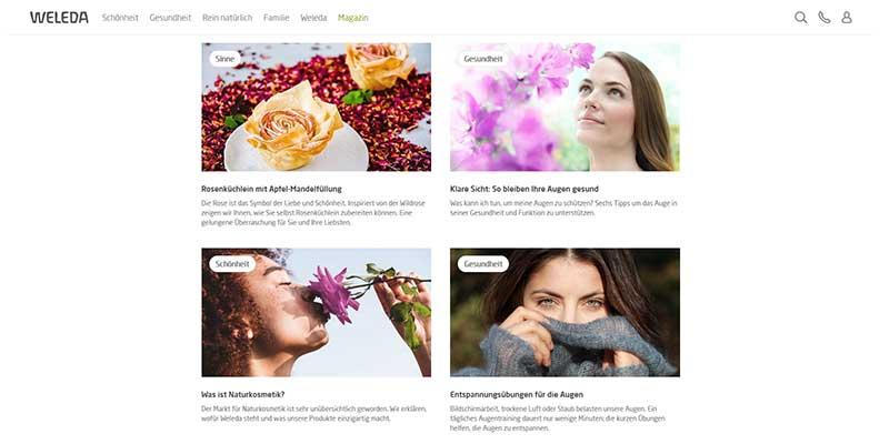 Beispiel für einen Corporate Blog - Weleda