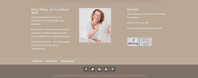 Website Konzept - Footer