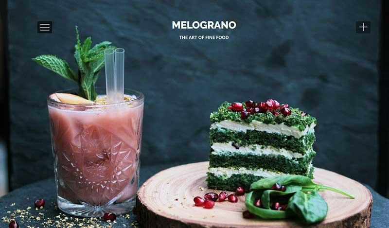 Website Konzept - das Hamburger Menü