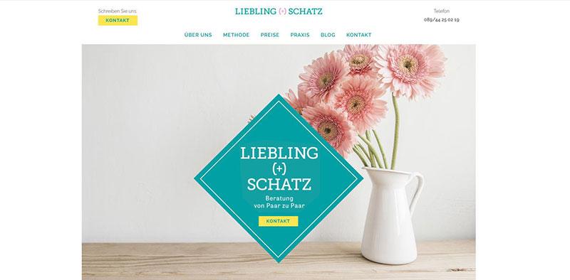 Website Konzept - die horizontale Navigation