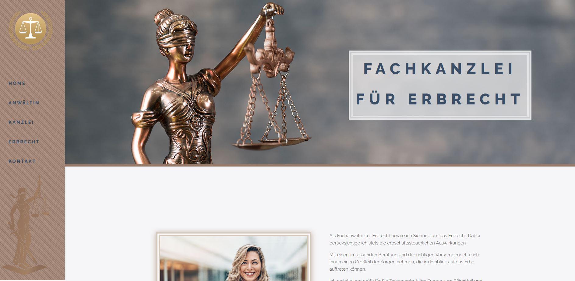 Das Bild zeigt ein Rechtsanwalt Webdesign.