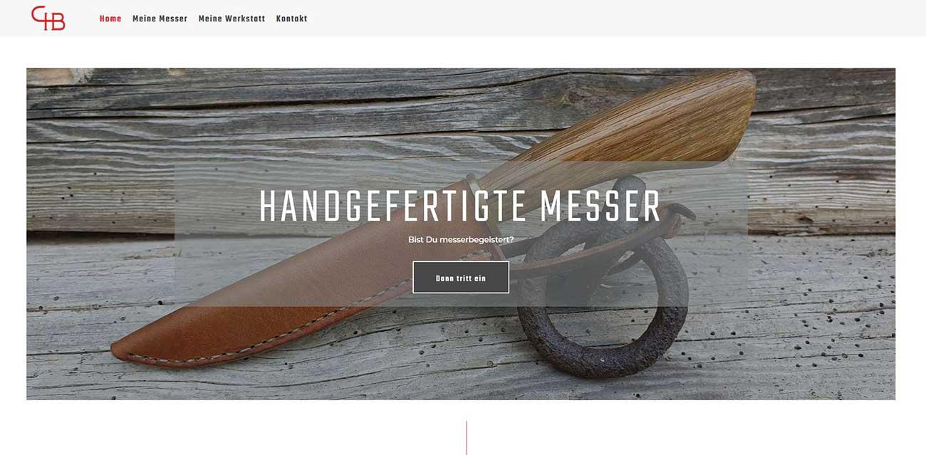 Eine neue Website für den Messerbauer